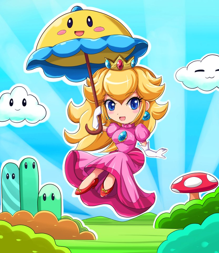 Chibi_Super_Princes_Peach_by_SigurdHosenfeld